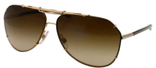 Dolce And Gabbana 2102 034/13 Gold 2102 Iconic Evolution Aviator Sunglasses Len