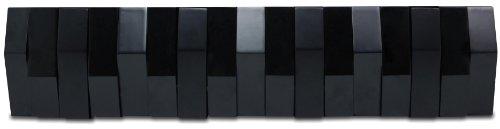 Nexxt Opus Wall Hook With 4 Flip Down Hooks, 4.5 By 20.75-Inch, Black