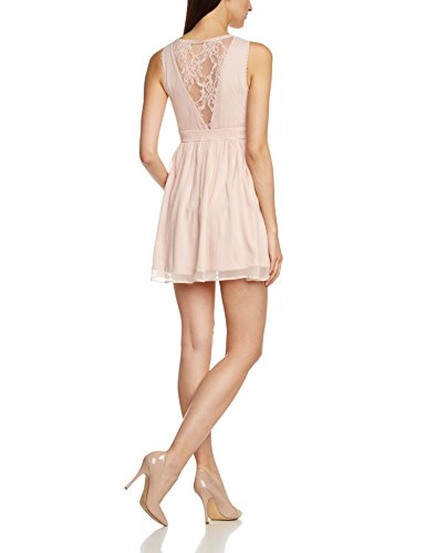 Vero Moda Women's Neja Sleeveless Dress with Lace Yoke Detail, Rose Smoke, X-Small
