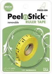 Thermoweb Peel n Stick Removable Ruler Tape 1/2