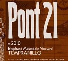 "2010 21 Cellars ""Pont 21"" Elephant Mountain Vineyard Tempranillo 750 Ml"