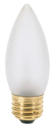 Satco S3296 120-Volt 60-Watt B10/B11 Medium Base Light Bulb, Frosted