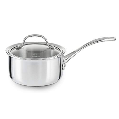 Calphalon Tri-Ply Stainless Steel 1-1/2-Quart Sauce Pan with Cover (Sauce Pans Stainless Steel compare prices)