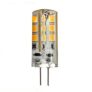 G4 3w 270lm 24x2835smd 2800-3200K warmes, weißes Licht geführt Bi-Pin Lampen (DC 12V)