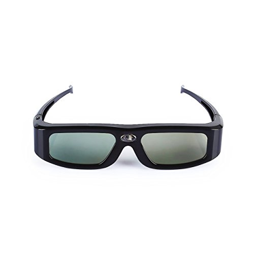 SainSonic GX-30 3D Glasses Active Shutter 144Hz Rechargeable for Universal DLP-Link Ready Projectors, BenQ, Optoma, Dell, Mitsubishi, Samsung, Acer, Vivitek, NEC, Sharp, ViewSonic - Black