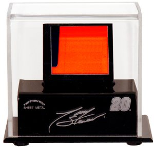 Tony Stewart Race Used Sheet Metal display Case by Motorsport Authentics