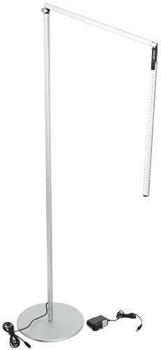 "Koncept Ar5000-C-Sil-Flr Z-Bar Led Floor Lamp, Cool Light, Silver 9.5W, 4,500 K Cool White Led Floor Lamp With A 10"" Base Aluminum Housing For Light Weight And Resistance To Corrosion Built-In Touch Strip Dimmer And Multiple Dimming Levels For Adjusting L"