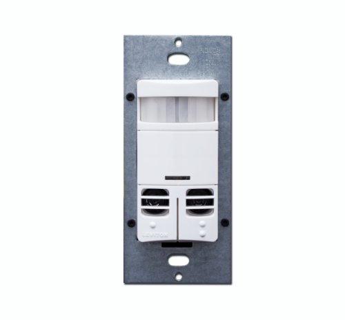 Dual-Relay, Multi-Technology Wall Switch Sensor, 2400 sq. ft. Major & 400 sq. ft. Minor Motion Coverage, Various Colors, OSSMD-MD