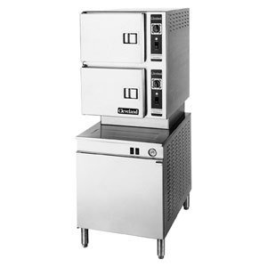 240V 3 Phase Cleveland 24-Cem-24 Classic Series Six Pan Electric Convection Floor Steamer With 24&Qu