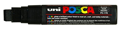 uni-ball Posca Extra Broad Chisel Tip Marker – Black