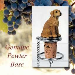 Conversation Concepts Golden Retriever Wine Bottle Stopper