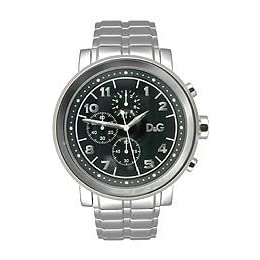 D&G Dolce & Gabbana Dorian Steel  Chronograph Black Dial Men's Watch #DW0489
