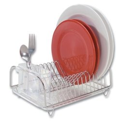 Better Houseware 3423 Compact Dish Drainer Set, Stainless (In Sink Dish Rack Small compare prices)