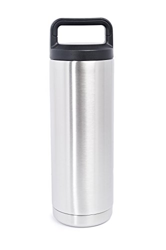 18 OZ Stainless Steel Double Wall Vacuum Insulated Twist Cap Leak-Proof & Spill-Proof Travel Outdoor Rambler Bottle Thermos Flask Beverage Cooler. Great with Coffee Beer Water Tea. Yeti Quality (Reach In Beer Cooler compare prices)
