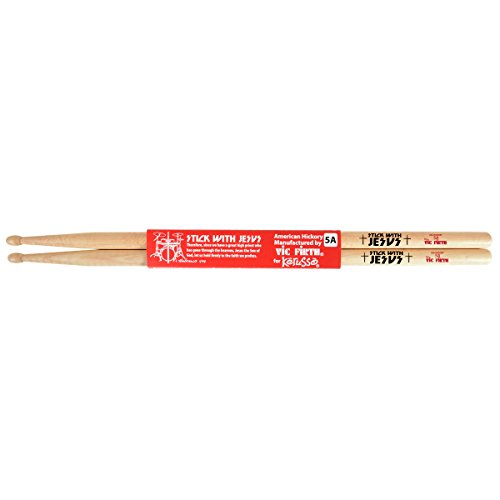 Stick With Jesus Hickory Christian Drumsticks - Natural