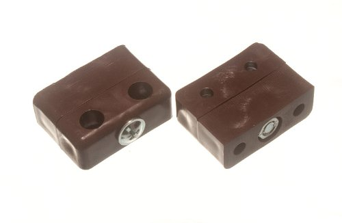 PK QTY 12 NEW FURNITURE CONNECTOR JOINTING KD BLOCK KNOCKDOWN FITTING BROWN
