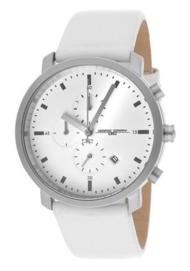 Jorg Gray 1460 Chronograph - Stainless Steel - White Dial & Leather Strap