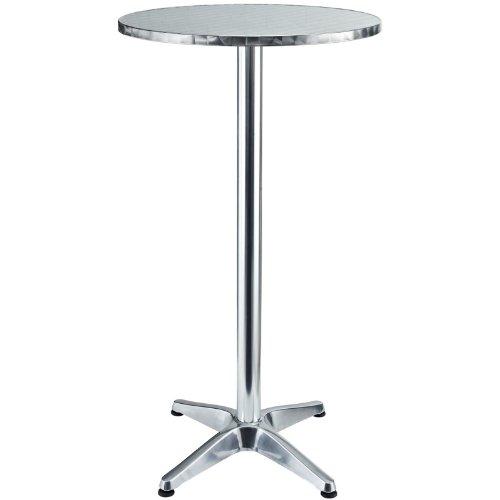 Lexmod Elevate Modern Round Aluminum Indoor/Outdoor Bar Table