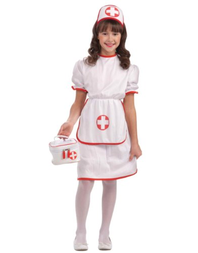 Classic White Nurse Costume, Child Large