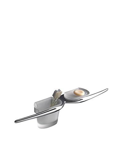 CAPANNOLI Accesorio de Baño 2 Piezas Mu Mu1523-Vs33 Transparente/Metal