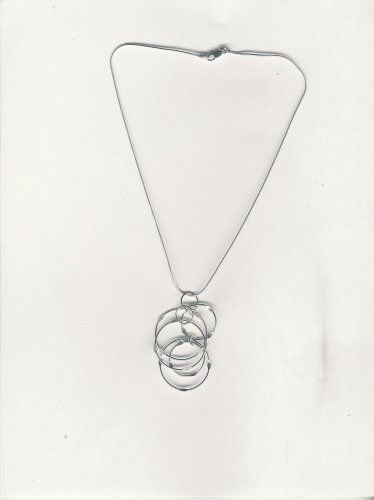 Pinched Circle Pendant From the Wire Collection By Aura Jewelry