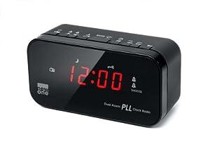 New One CRI20 Radio-réveil FM/PLL Double Alarme