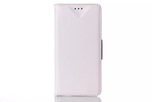 Fire Phone Flip Case, Boriyuan Ultra Portable Book Style Magnetic Built-In Credit Id Card Money Holder Slot Protective Folio Wallet Pu Leather Case Carrying Cover With Viewing Stand Function For Amazon Fire Phone (Classic Pattern White)