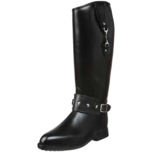 DAV Rainboots Women's Equestrian Bit Black Riding Boots EQ-BI900-39 6 UK, 39 EU, 9 US