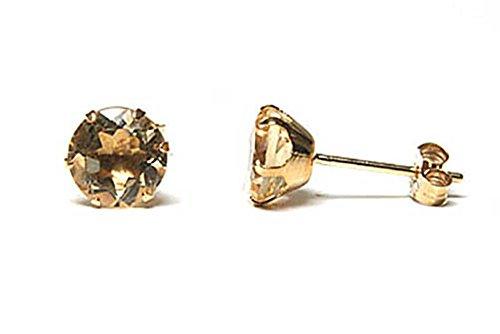 peninsula-jewellery-orecchini-a-perno-rotondi-6-mm-in-oro-9-carati-con-quarzo-citrino