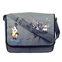 Disney Mickey Mouse Messenger Bag ~ Black & Grey from DISNEY