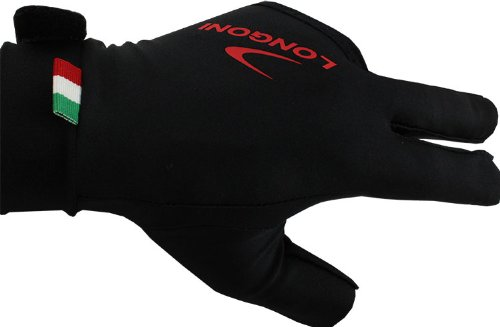 Best Price! Longoni Billiard Glove Black Fire SX Left Hand - Medium