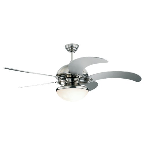 Monte Carlo 5Cnr52Bsd-L Centrifica 52-Inch 5-Blade Ceiling Fan With Remote And Light Kit, Brushed Steel Finish