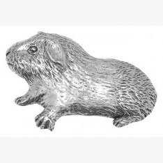 Pewter Guinea Pig Pin Badge or Brooch Gift for Scarf, Tie, Hat, Coat or Bag