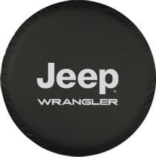 Moonet Jeep Wrangler Spare Wheel Tire Cover With Jeep logo R17 (Skull Jeep Spare Tire Cover compare prices)