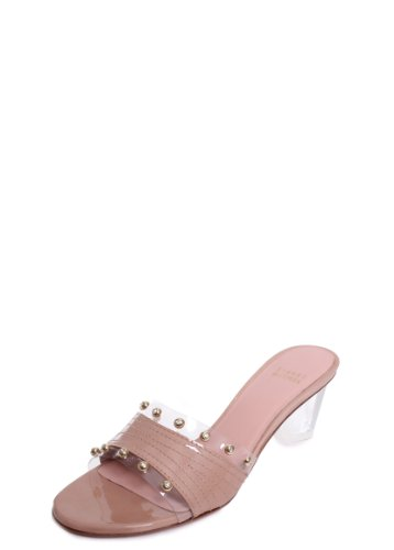 Stuart Weitzman Daysoff Sandal with Lucite Clear Heel