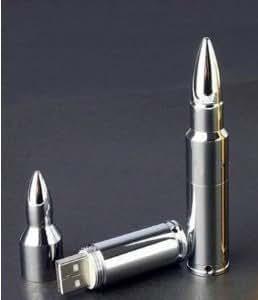 64 Gb USB Memory Stick Flash Pen Drive Mental Bullet Silver