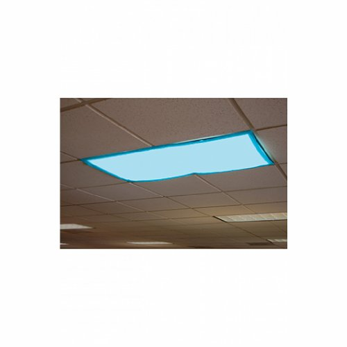 Awardwiki educational insights fluorescent light filters tranquil blue set of 4 - Classroom fluorescent light covers ...
