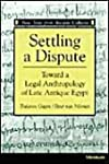 Settling a Dispute: Toward a Legal An...