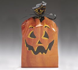 Cello Bags Great Pumpkin Halloeen Large - Pack of 20