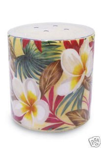 Hawaii Decal Candle Plumeria Cream 3 x 3 in.