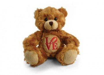 BROWN FLUFFY LOVE TEDDY BEAR