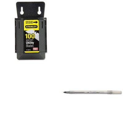 Kitbicgsm11Bkbos11921A - Value Kit - Stanley Wall Mount Utility Knife Blade Dispenser W/Blades (Bos11921A) And Bic Round Stic Ballpoint Stick Pen (Bicgsm11Bk)