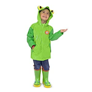 Melissa & Doug Educational Products - 2 Item Bundle: Melissa & Doug 6297 Soggy Froggy Kids' Raincoat + Free Stickers - 2 Item Bundle: Melissa & Doug 6297 Soggy Froggy Kids' Raincoat + Free Stickers