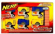 Nerf Pistol N-Strike Attack Unit Set with 6 Blasters & 12 Darts