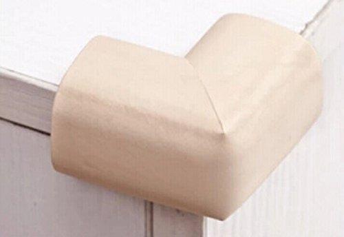 Interbusiness 10 Pack/Lot Baby Child Infant Kids Safety Safe Table Desk Corner Bumps Cushion Guards Foam Protector (Beige)