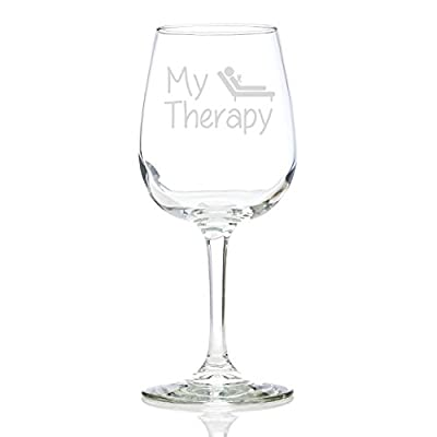 my therapy funny wine glass perfect birthday gift for women great christmas idea for her fun unique present for a mom wife girlfriend daughter