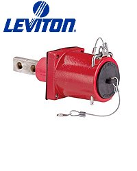 Leviton 49FR2-CB 49 Series Rhino-Hide, Single Pole, Female Receptacle, Double Hole Bus Bar, 313MCM-777MCM Cable, 1000-Volt, 1135A, Blue