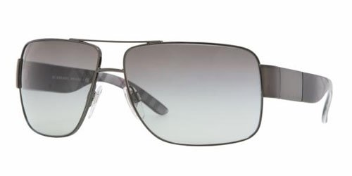 Burberry Burberry BE3040 Sunglasses-1057/11 Gunmetal (Gray Gradient Lens)-61mm
