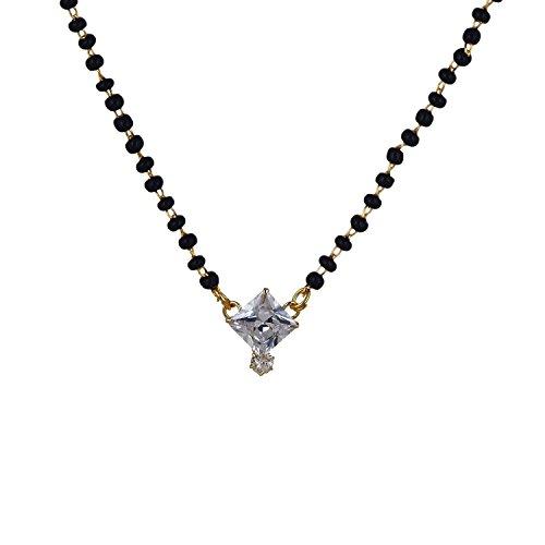 Zeneme American Diamond Mangalsutra Jewellery For Women