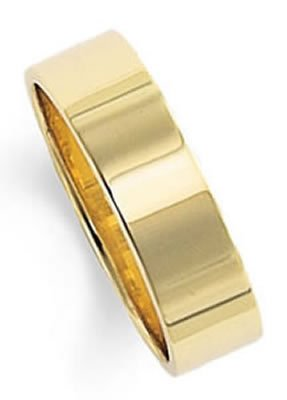 Gold Wedding Band Ring 14Kt Yellow in 7.0 Millimeters, Comfort Fit Style FCF07 on sale, Finger Size 7.25